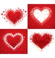 decorative love hearts vector image vector image