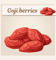dried goji berries icon vector image vector image