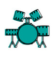drum set musical instrument icon image vector image vector image