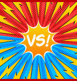 duel and fight colorful concept vector image