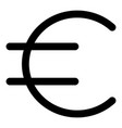 euro sign icon outline style vector image