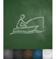 fisherman in a boat icon vector image