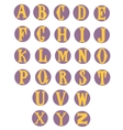 Flat alphabet rounded Isolated on white vector image vector image