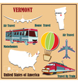 Flat map of Vermont vector image vector image