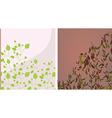 Floral background set vector image vector image