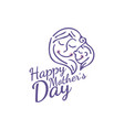 for happy mother day congratulation card vector image vector image
