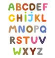 funny colorful cartoon alphabet alphabetical vector image vector image