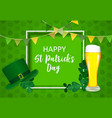 happy saint patricks day background design vector image