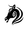 horse profile isolated minimalistic monochrome vector image vector image