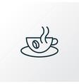 hot coffee icon line symbol premium quality vector image