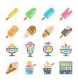 ice cream icon set vector image