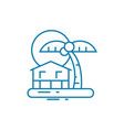 island resort linear icon concept island resort vector image