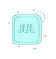 july calender icon design vector image vector image