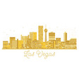 las vegas usa city skyline golden silhouette vector image