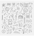 lined back to school supplies elements and vector image vector image