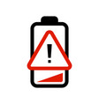 low battery indicator notice icon low vector image vector image