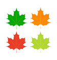 maple leaves canada symbol flat style vector image vector image
