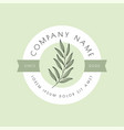 natural logo design with leaf vector image vector image