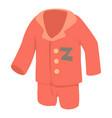 pajamas icon cartoon style vector image vector image
