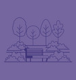 park scene with chair vector image vector image