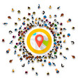 people surround location point collection vector image vector image
