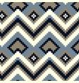 pixel zig-zag seamless pattern vector image vector image