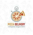 pizza delivery company logo template vector image