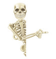 pointing cartoon halloween skeleton vector image vector image