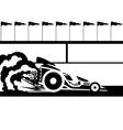 Race car vector image