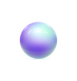 Realistic Pearl Ball or Sphere vector image