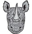 rhino head logo mascot vector image vector image
