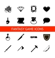 RPG game icons set potions buttons weapons scrolls vector image