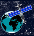 satellite over earth vector image
