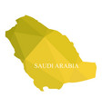 saudi arabia map on white background vector image vector image