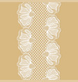 seamless white flower lace border lace ribbon vector image