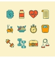 set color line icons for personal vector image