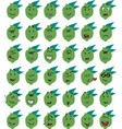 set of funny lime character emojis vector image vector image