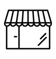 shop pixel perfect thin line icon 48x48 store vector image vector image