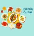 spanish cuisine healthy lunch icon design vector image vector image