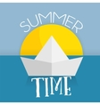 summer time card web icon vector image