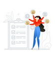 task management - flat design style colorful vector image vector image