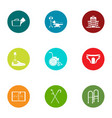 therapist icons set flat style vector image vector image