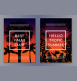 tropic night posters vector image