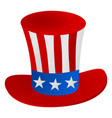 uncle sams hat 4th july celebration icon vector image vector image