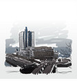 urban city drawing sketch vector image