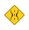 usa traffic road signnarrow bridge warning vector image