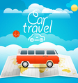 Vacation concept Car travel vector image vector image
