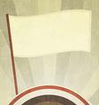 vintage flag background with grunge effect vector image