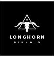 vintage retro texas longhorn buffalo bull cow vector image vector image