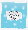 winter solstice day background vector image
